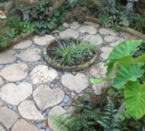 DIY Gartendeko aus Beton – Blätter-Trittsteine und andere kreative und moderne Ideen