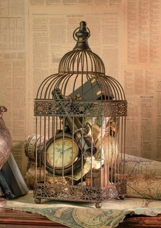 vintage vogelkäfig deko ideen