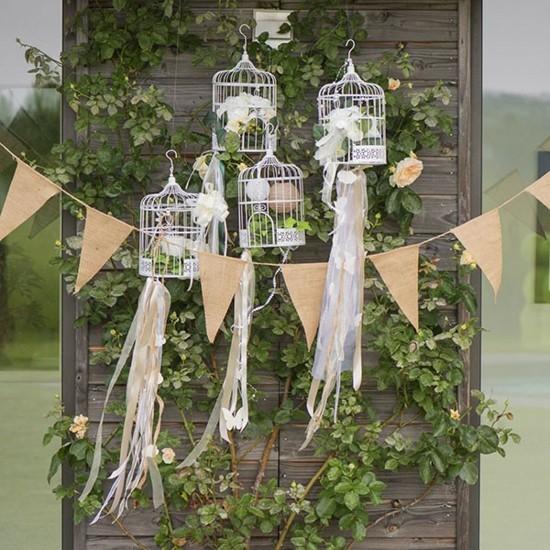 vogelkäfig deko für hochzeitsfeier