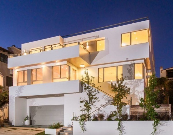 weiße Fassade - moderne Häuser