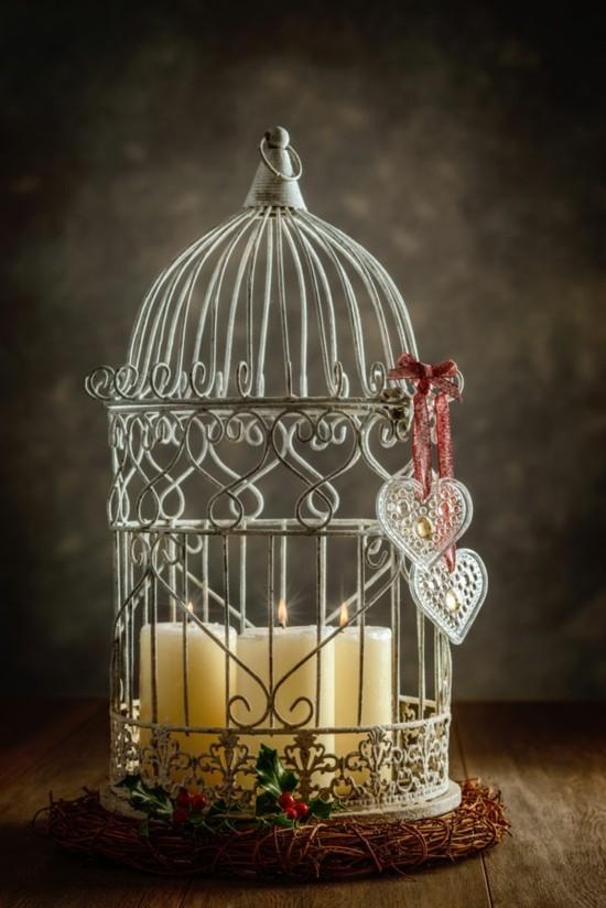 weihnachtsdeko ideen vogelkäfig deko