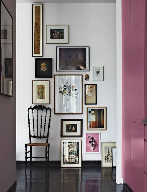 Asymmetrie im Interieur Bilderwand im Flur keine Spur vom Chaos