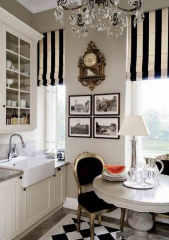 French Chic im Interieur Küche und Esszimmer