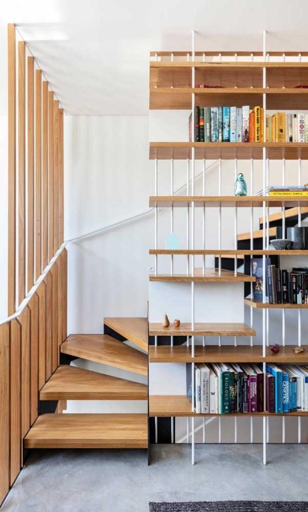 Idee aus Holz und Metall - Treppengestaltung