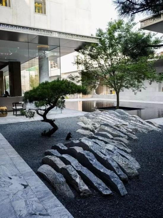 Japanischer Garten hohe Ästhetik visuelle Harmonie Steine Kiesel typische Stilelemente