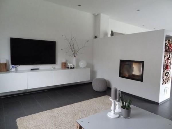 Japanisches Wohnzimmer moderne japanisch inspirierte Raumgestaltung weiß grau