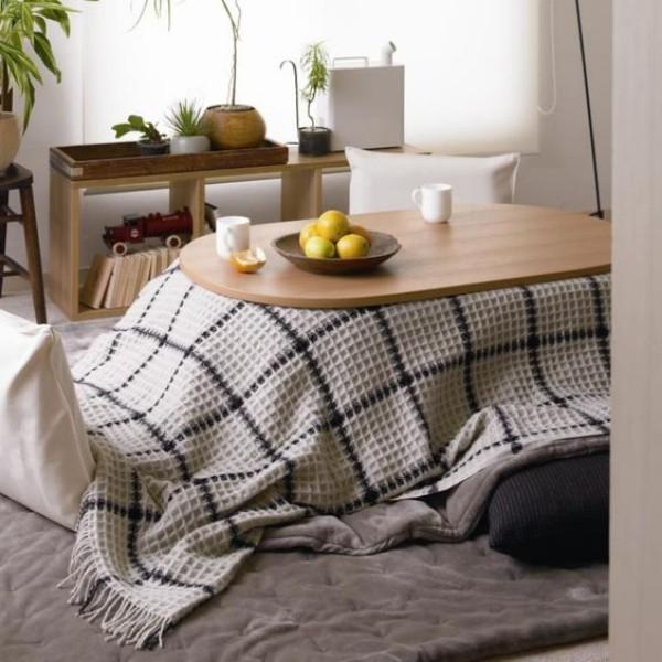 Japanisches Wohnzimmer typisch japanischer Tisch Kokatsu