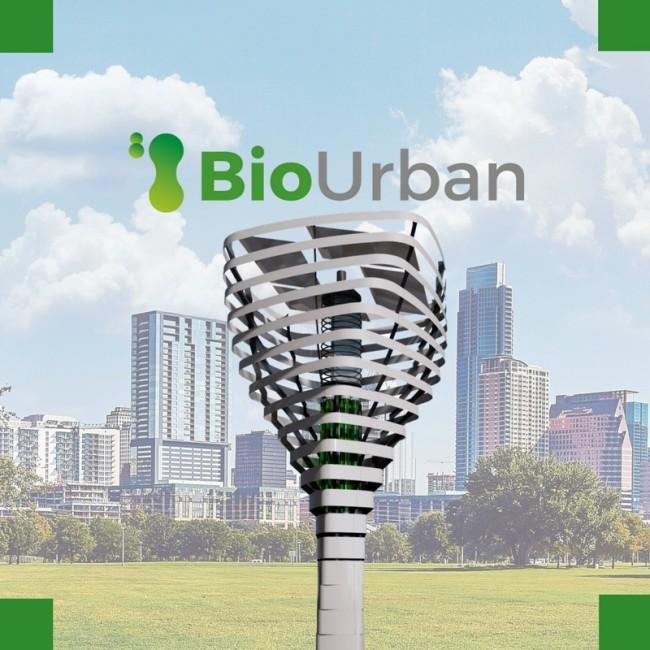 Künstlicher Baum BioUrban kann die Luft in Städten säubern der baum für städte