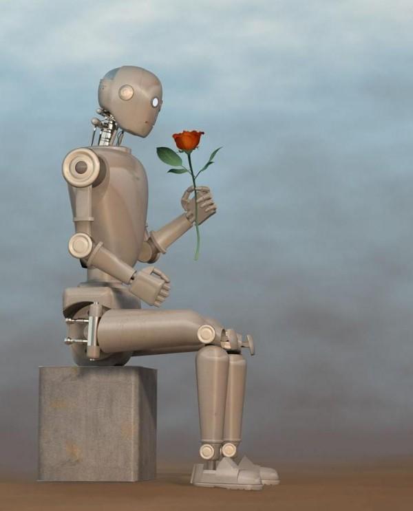 KI kreierte Parfums kommen bald auf den Markt roboter mit rose