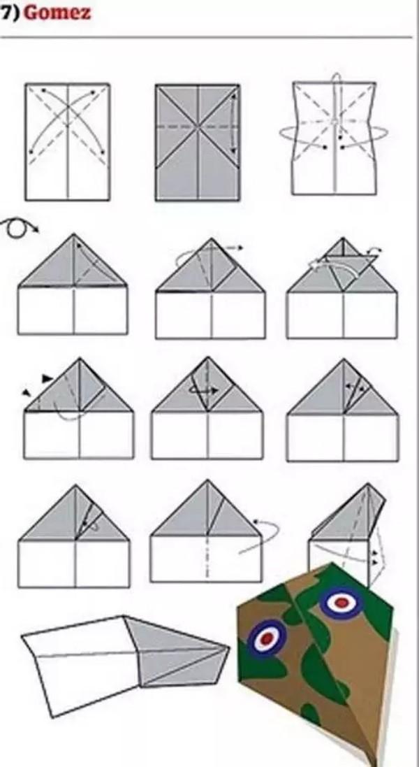 Lustiges Papierflugzeug selber bauen