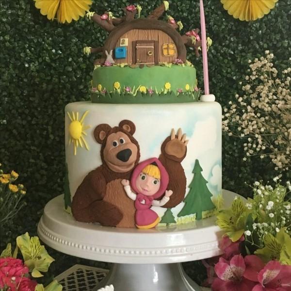 Mascha und der Bär Torte Kinderparty Masha i Medved Kindertorte bestellen