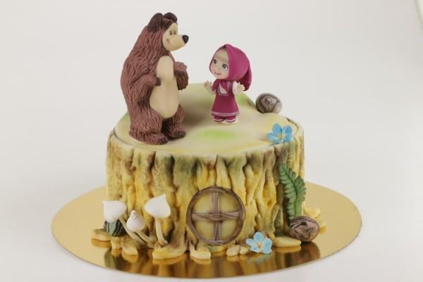 Mascha und der Bär Torte Kinderparty Masha i Medved