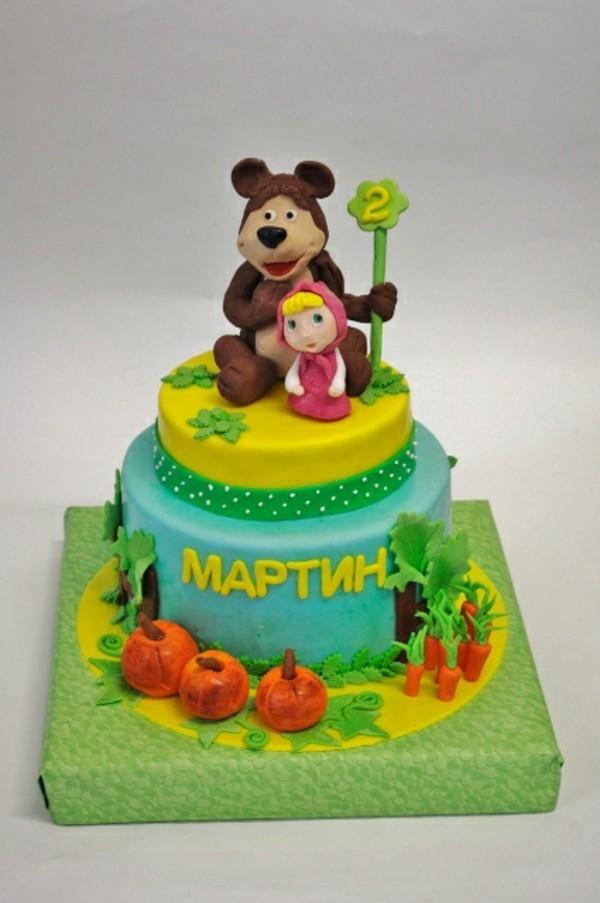 Mascha und der Bär Torte Kindertorte bestellen Masha i Medved Kinderparty