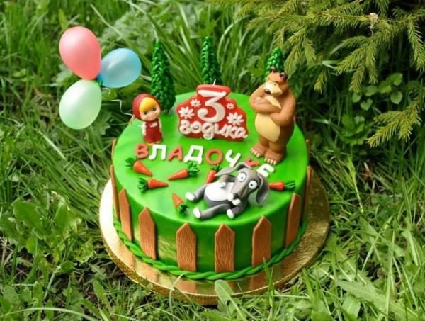 Mascha und der Bär Torte Masha i Medved Kindertorte