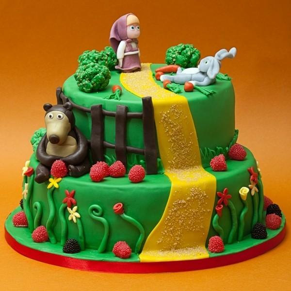 Mascha und der Bär Torte Motivtorte Geburtstagstorte