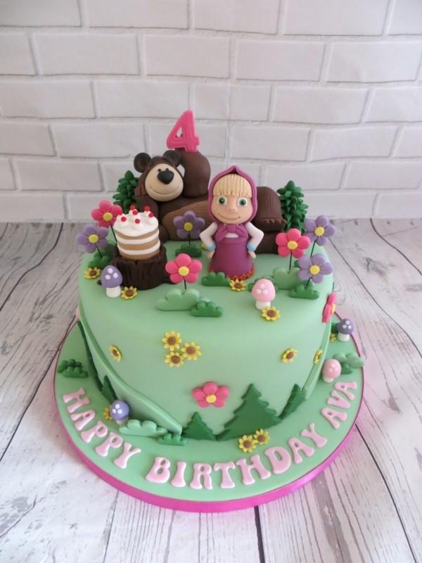 Mascha und der Bär Torte Motivtorte Kindergeburtstag Torte