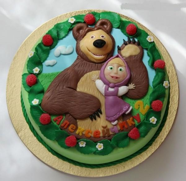 Mascha und der Bär Torte Motivtorte Kindergeburtstag