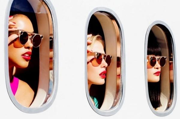 Mit Snapchat Spectacles 3 können Sie HD Fotos und Videos in 3D aufnehmen hübsch und stilvoll in goldene farbe