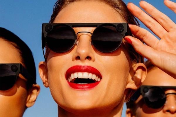 Mit Snapchat Spectacles 3 können Sie HD Fotos und Videos in 3D aufnehmen stilvoll in schwarz