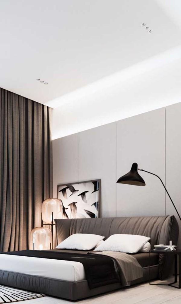 Nachtlampe - hohe schwarze Lampe