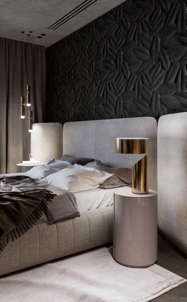 Nachtlampe mit einem goldenen Design