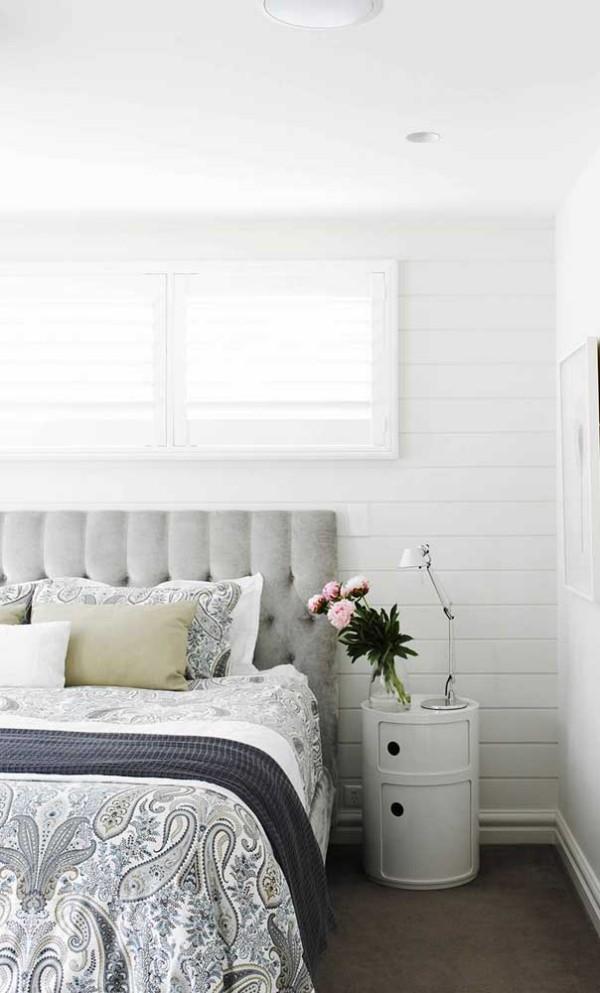 Nachtlampe - weißes Schlafzimmer