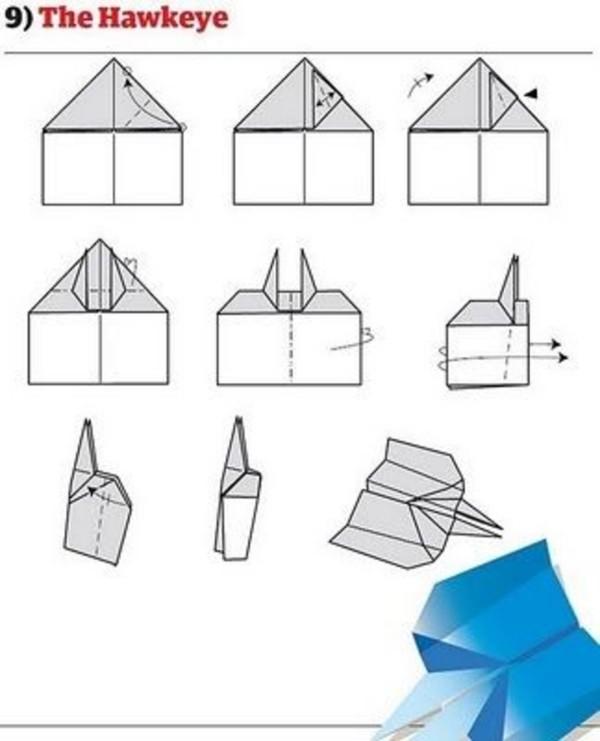 Papierflugzeug Papierflieger basteln - selber machen