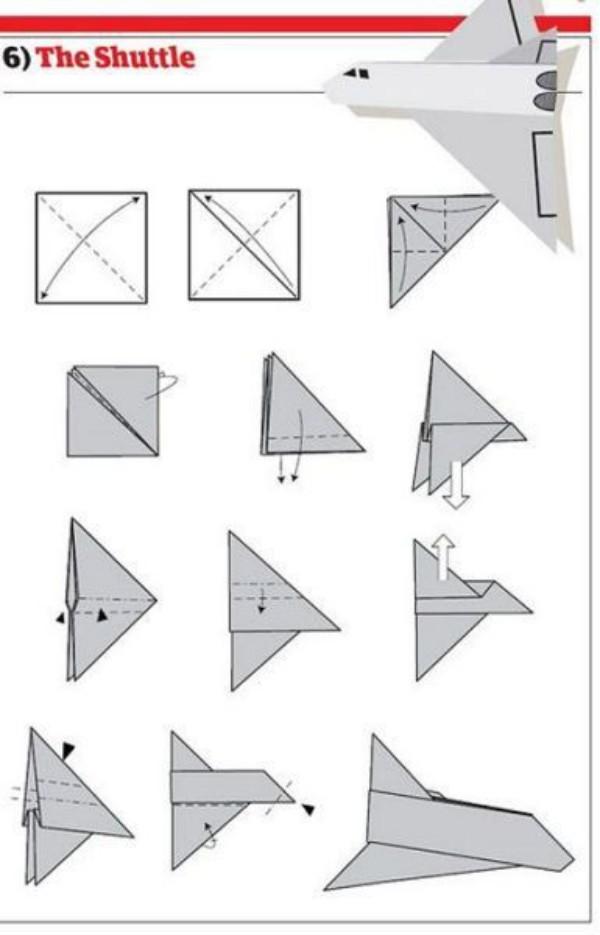 Papierflugzeug - basteln toll - Papierflieger