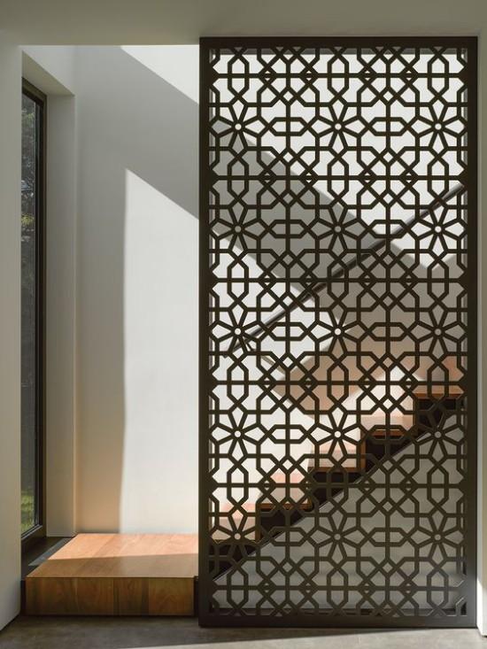 Raumteiler auffälliges Design dekorative Funktion dient als Blickfang