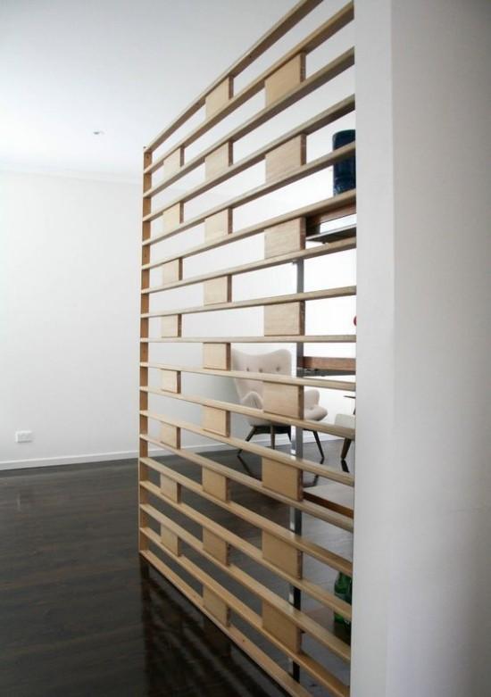 Raumteiler aus Holz elegantes Design Einsatz in Büroräumen
