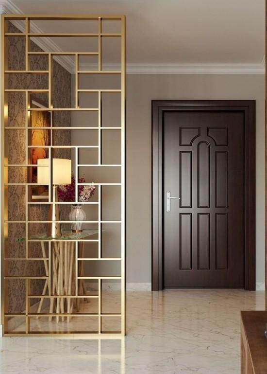 Raumteiler elegantes Designzwischen Flur und Wohnbereich
