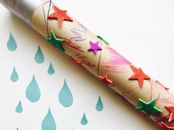 Regenmacher basteln bunte Sterne Deko