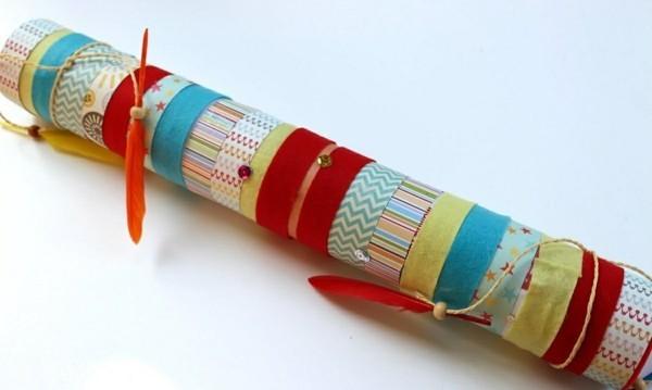 Regenmacher basteln und dekorieren Bastelideen Kind
