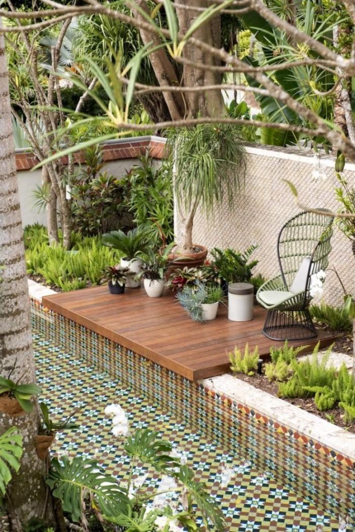Restaurierung eine historische Villa in Puerto üppige Pflanzenwelt exotische Pflanzenarten