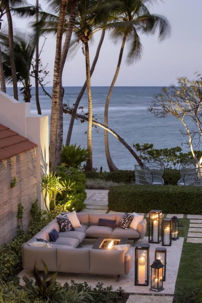 Restaurierung eine historische Villa in Puerto Parkanlage gut definierte Bereiche romantische Atmosphäre