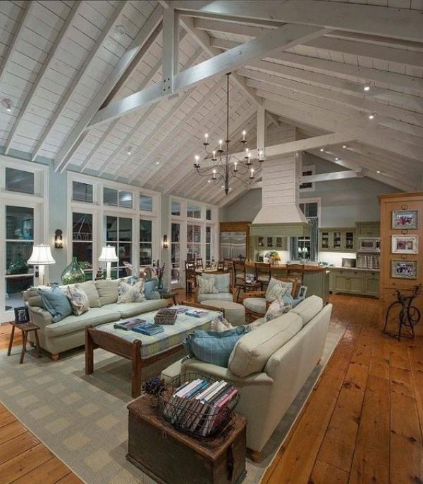 Scheune umbauen viel Wohnkomfort helles Interieur in Grau sehr einladend wirken