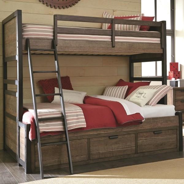 Stauraumbett - zwei Etaggenbett - Holz