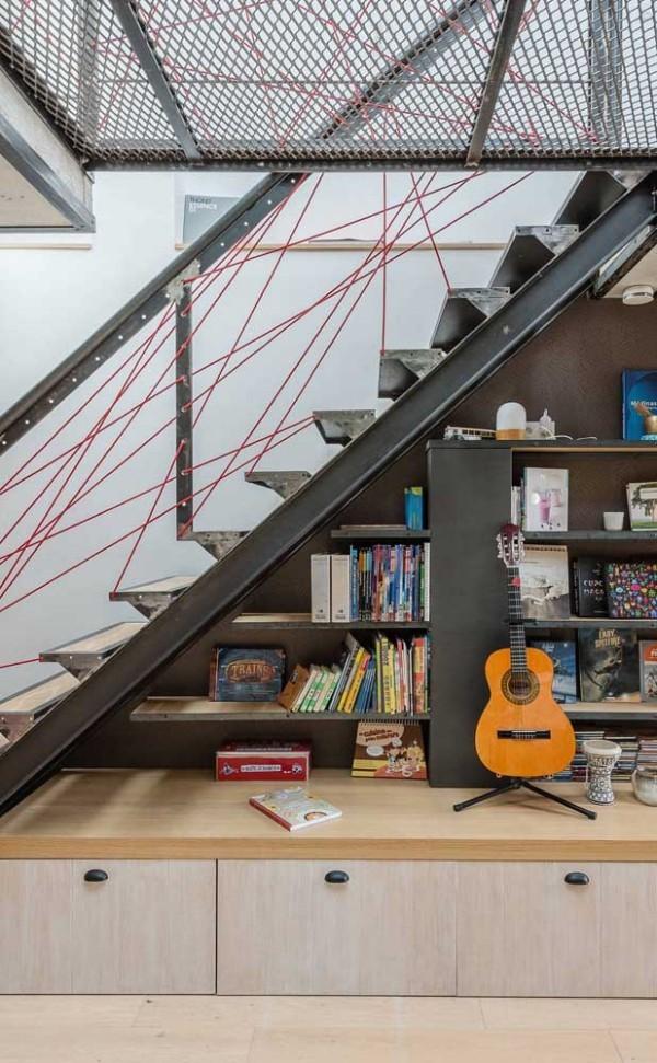 Tolle Inneneinrichtung aus Metall - Treppengestaltung