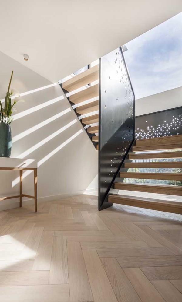 Treppengestaltung - Metall und Holztreppen