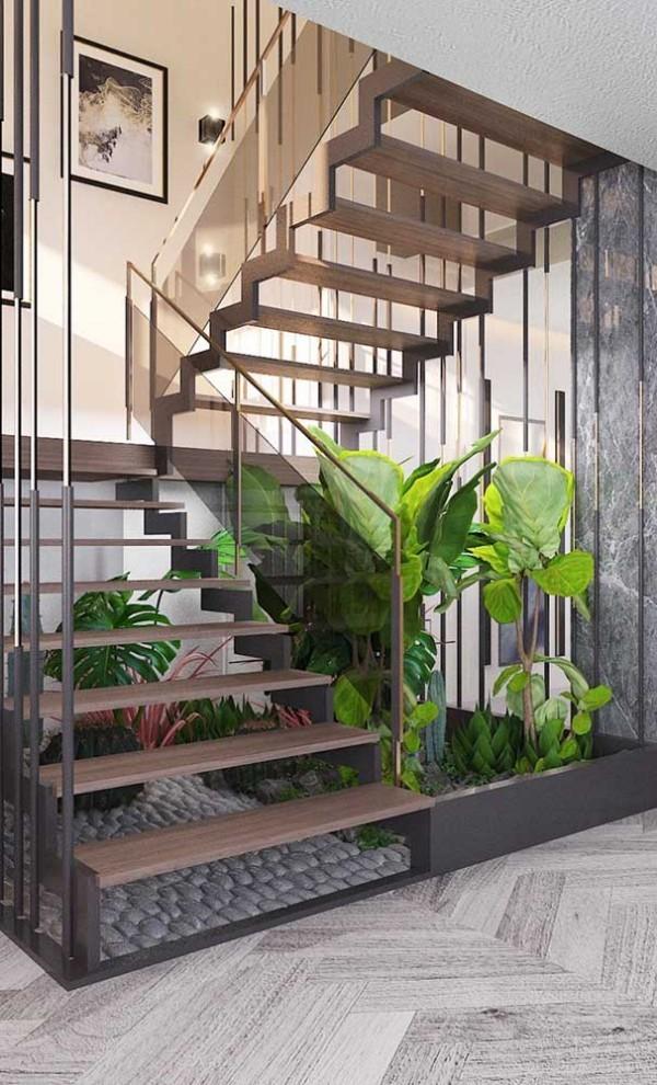 Treppengestaltung - extra exotische Atmosphäre
