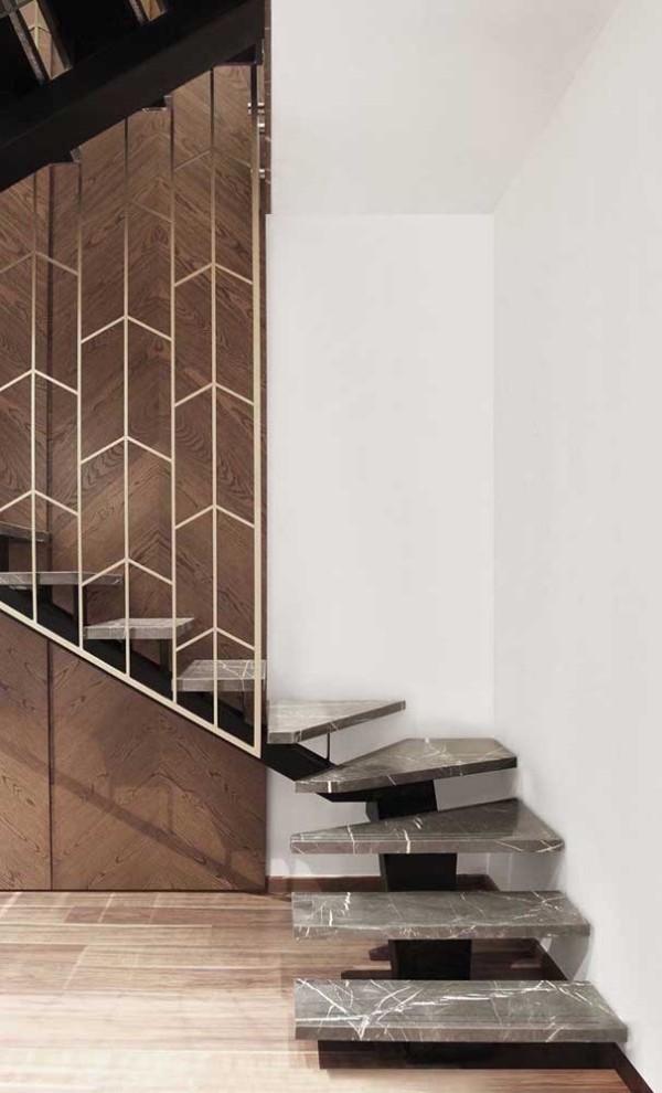 Treppengestaltung - tolle Wendeltreppe aus Marmor