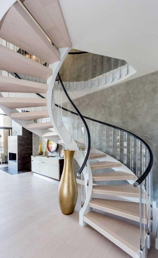 Treppengestaltung - wunderbare Wendeltreppe