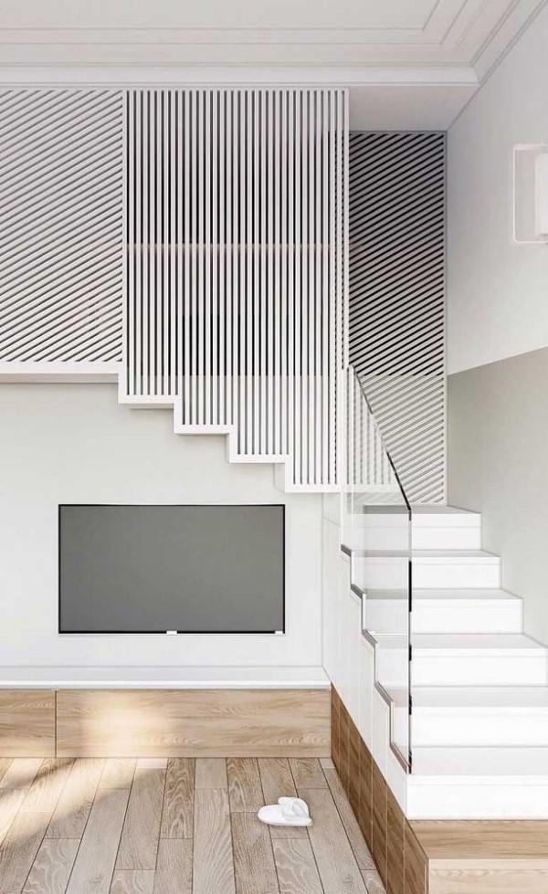 Treppengestaltung - wunderbare weiße Treppe
