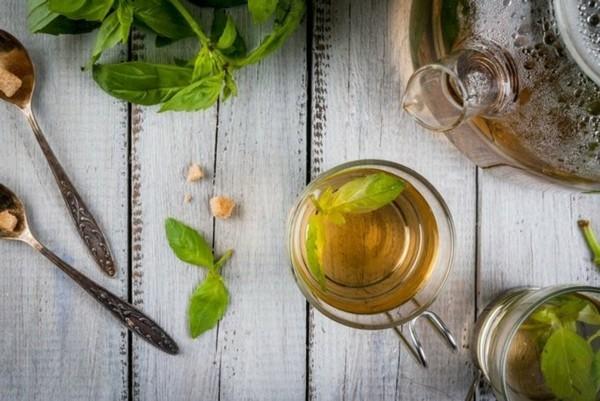 Tulsi Tee Wirkung Tulsi Blätter Heiliges Basilikum Königsbasilikum