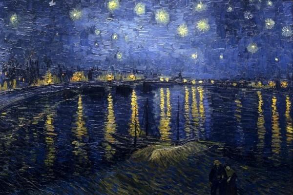 Van Gogh genialer Maler Impressionismus Sternennacht über der Rhone