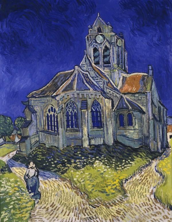 Van Gogh größter niederländischer Maler aller Zeiten Die Kirche in Auvers 1890