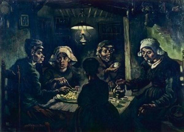Van Gogh größter niederländischer Maler aller Zeiten Kartoffelesser 1885