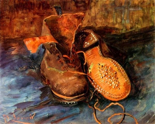 Van Gogh größter niederländischer Maler aller Zeiten ein Paar Schuhe 1887
