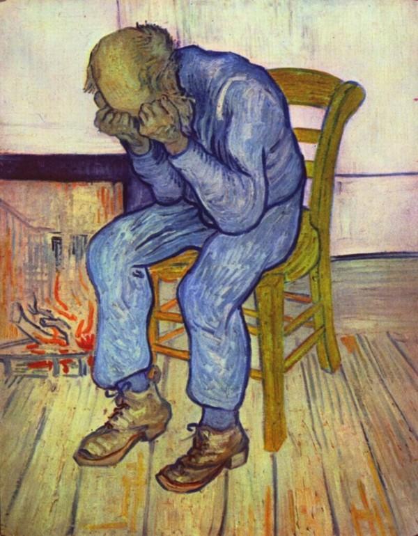 Van Gogh größter niederländischer Maler aller Zeiten trauriger alter Mann 1890