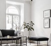 Wohnzimmer in Schwarz-Weiß sind eindrucksvoll und extrem elegant